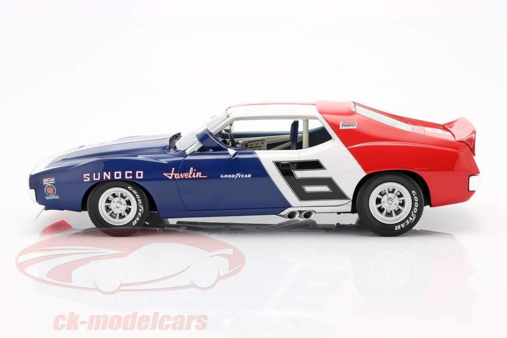 AMC Javelin #6 Trans Am Campeon 1971 Mark Donohue 1:18 Real Art Replicas