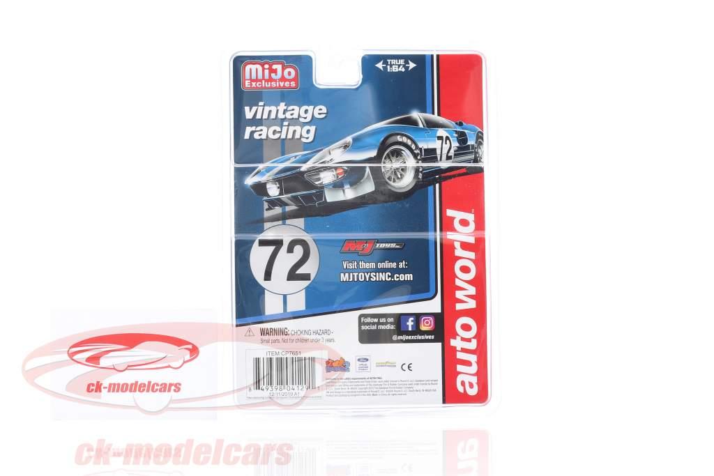 Ford GT Dirty Version #72 Byggeår 1965 blå 1:64 AutoWorld