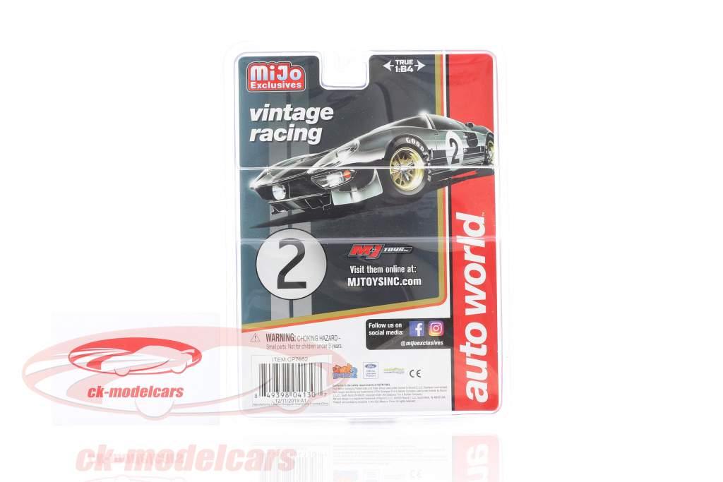 Ford GT Dirty Version #2 Construction year 1965 black 1:64 AutoWorld