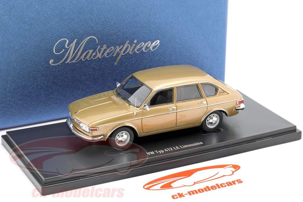 Volkswagen VW Tipo 412 LE Limusina Año de construcción 1972 oro metálico 1:43 AutoCult