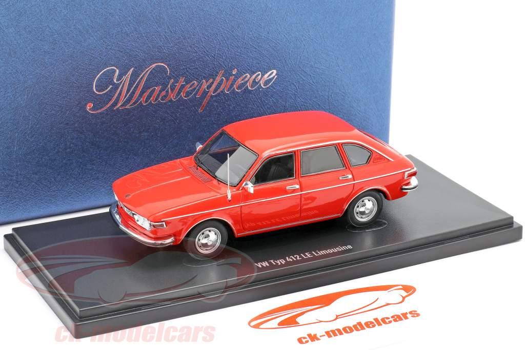 Volkswagen VW tipo 412 LE berlina Anno di costruzione 1972 rosso 1:43 AutoCult