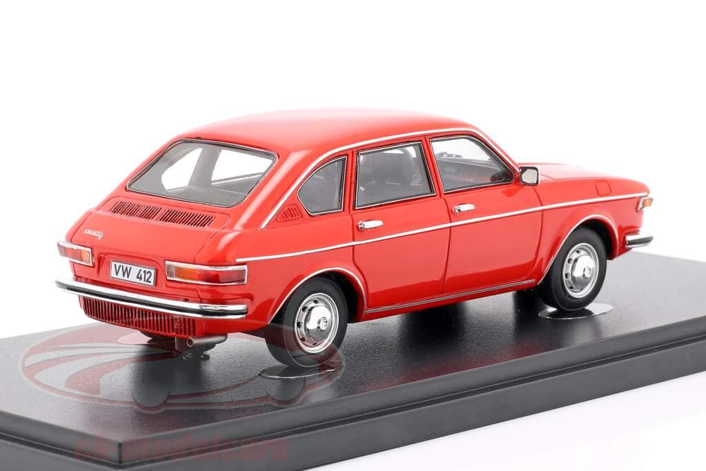 Volkswagen VW Tipo 412 LE Limusina Año de construcción 1972 rojo 1:43 AutoCult