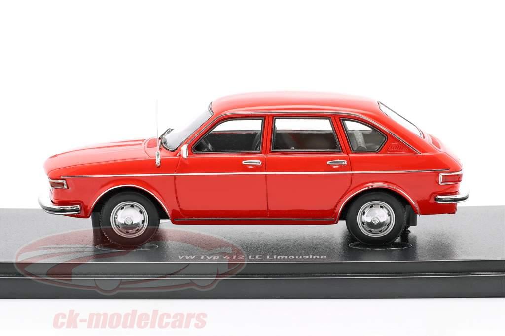Volkswagen VW Type 412 LE limousine Construction year 1972 red 1:43 AutoCult