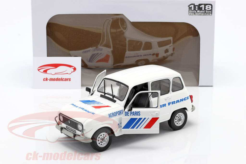 Renault 4L GTL Air France year 1978 white / blue 1:18 Solido