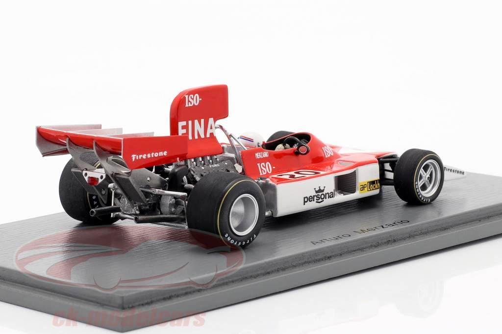 Arturo Merzario Iso Marlboro FW #20 Brasileira GP Formula 1 1974 1:43 Spark