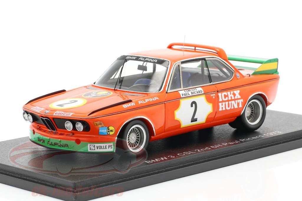 BMW 3.0 CSL #2 2do 6h Paul Ricard 1973 Ickx, Hunt 1:43 Spark