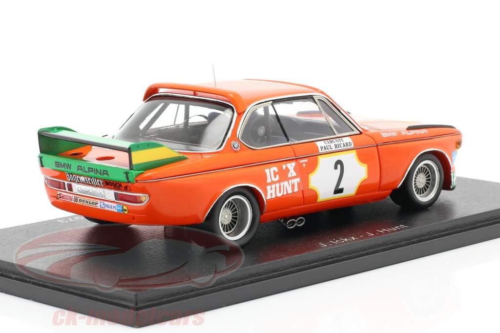 BMW 3.0 CSL #2 2 ° 6h Paul Ricard 1973 Ickx, Hunt 1:43 Spark