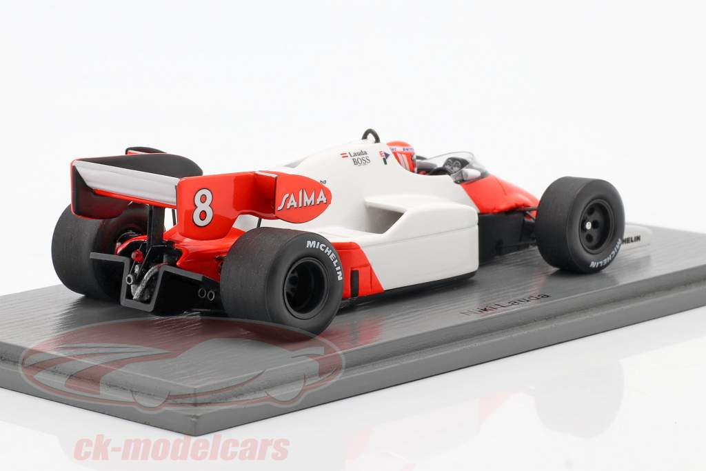 Niki Lauda McLaren MP4/2 #8 Vencedor Britânicos GP Campeão do mundo F1 1984 1:43 Spark