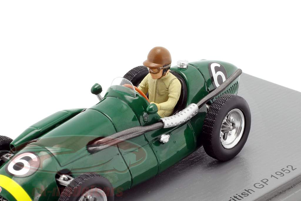 Dennis Poore Connaught A #6 4to Británico GP Formula 1 1952 1:43 Spark