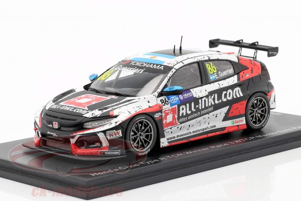 Honda Civic Type R TCR #86 Ganador Race 3 WTCR Macau Guia Race 2018 1:43 Spark