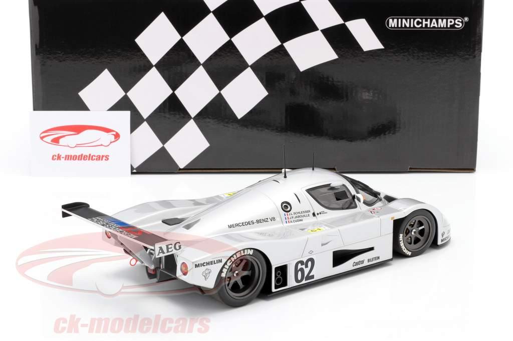 Sauber-Mercedes C9 #62 5to 24h LeMans 1989 Schlesser, Jabouille, Cudini 1:18 Minichamps