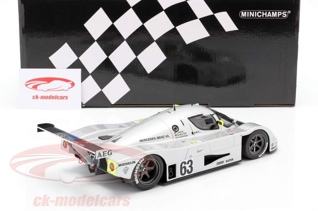 Sauber-Mercedes C9 #63 vincitore 24h LeMans 1989 Mass, Dickens, Reuter 1:18 Minichamps