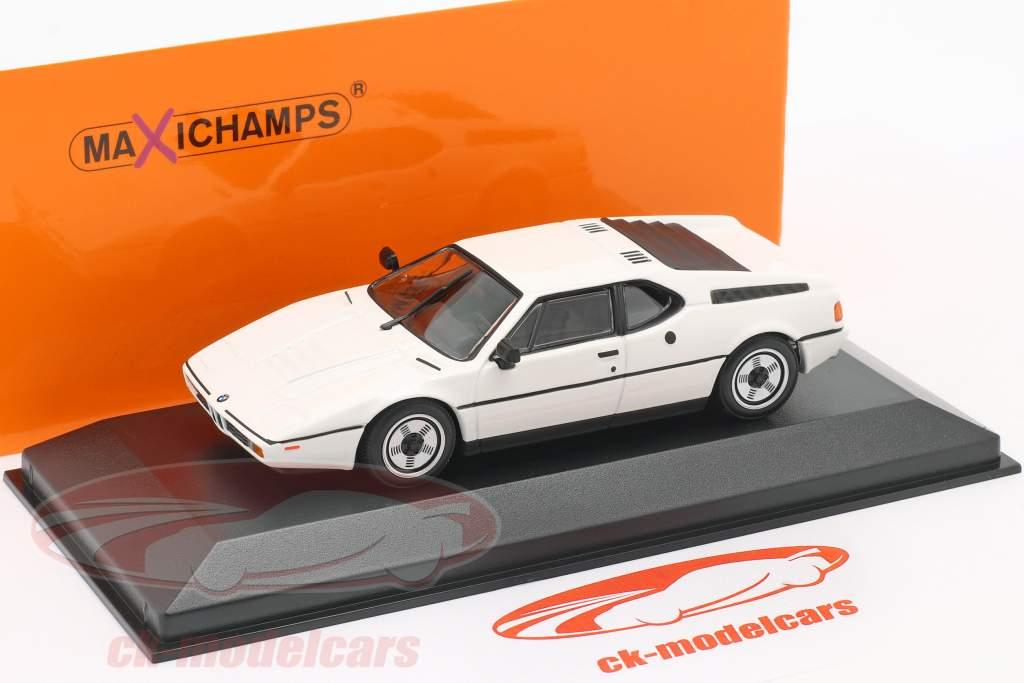 BMW M1 Año de construcción 1980 blanco 1:43 Minichamps