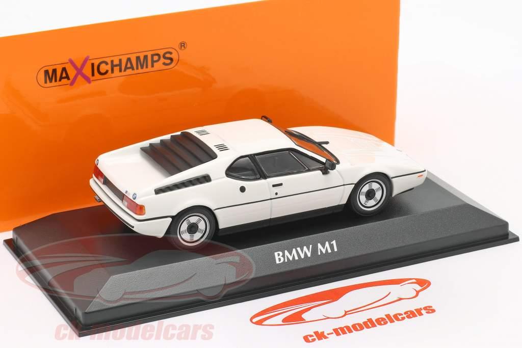 BMW M1 Byggeår 1980 hvid 1:43 Minichamps