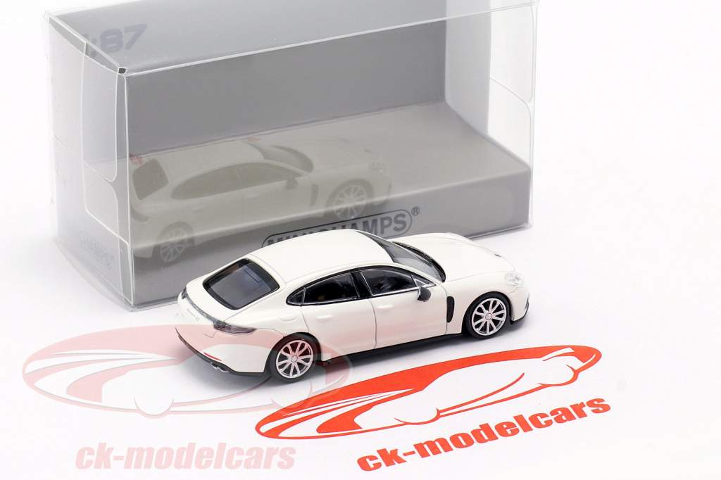 Porsche Panamera 4S year 2015 white 1:87 Minichamps