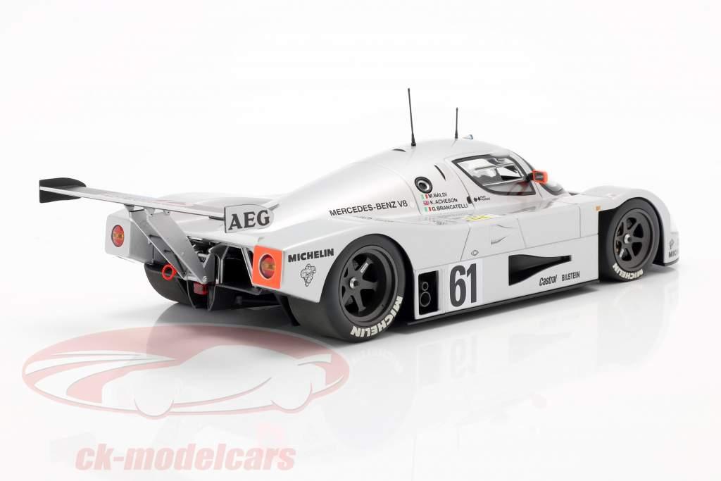 Sauber-Mercedes C9 #61 2 ° 24h LeMans 1989 Baldi, Acheson, Brancatelli 1:18 Minichamps