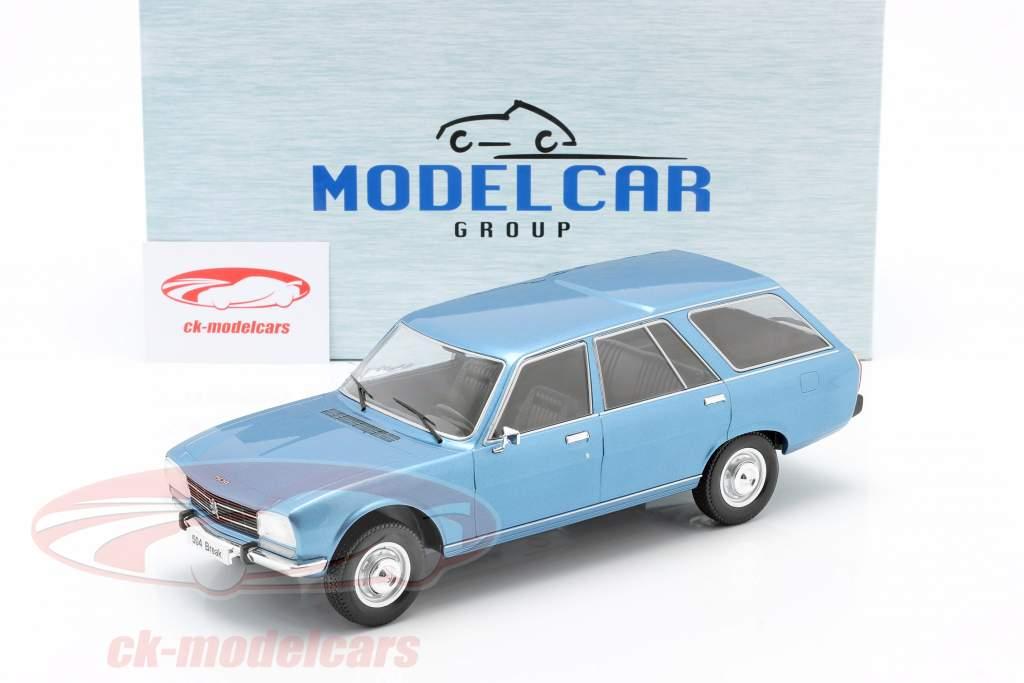 Peugeot 504 Break Ano de construção 1976 azul metálico 1:18 Model Car Group