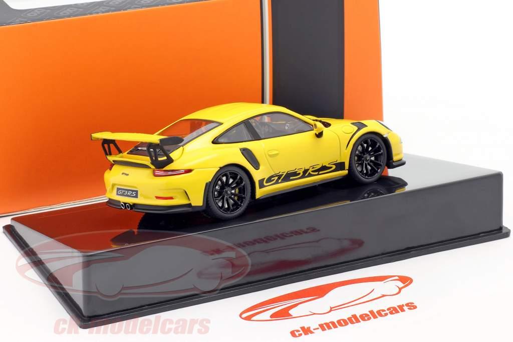 Porsche 911 (991) GT3 RS Ano de construção 2017 amarelo 1:43 Ixo