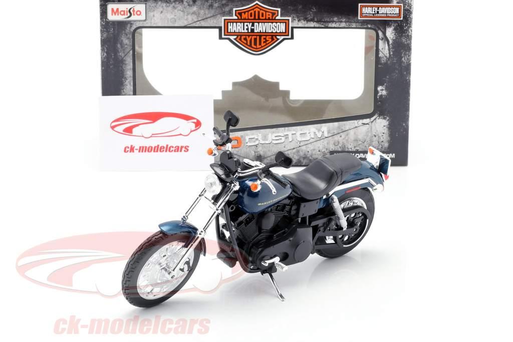 Harley Davidson Dyna Super Glide Sport Anno di costruzione 2004 blu scuro / nero 1:12 Maisto