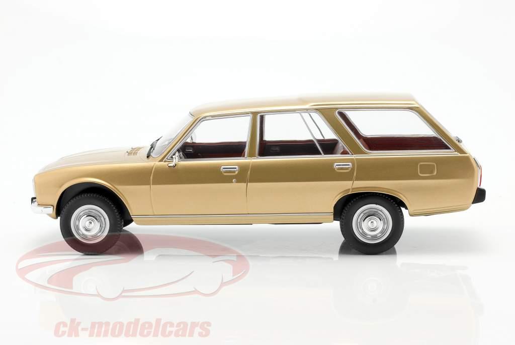 Peugeot 504 Break Año de construcción 1976 oro 1:18 Model Car Group