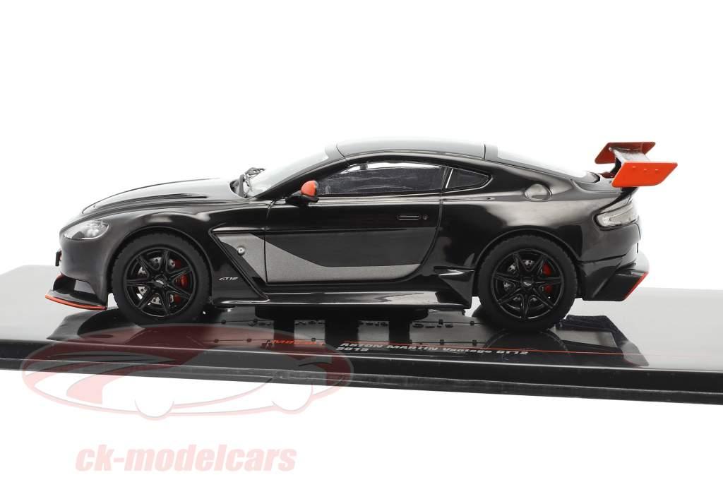 Aston Martin Vantage GT12 Année de construction 2015 noir / orange 1:43 Ixo