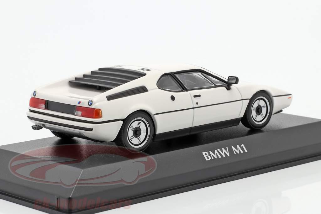 BMW M1 Baujahr 1980 weiß 1:43 Minichamps