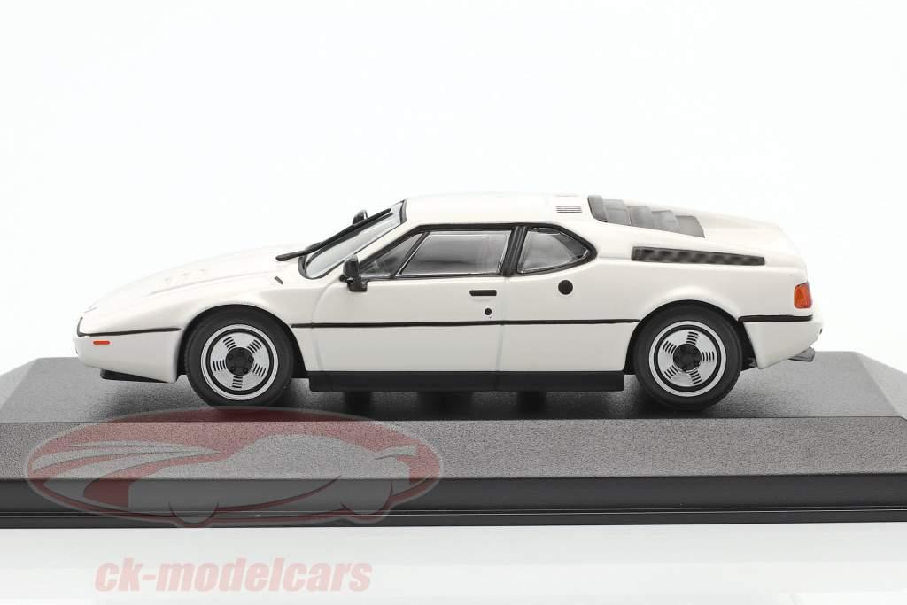 BMW M1 Ano de construção 1980 branco 1:43 Minichamps