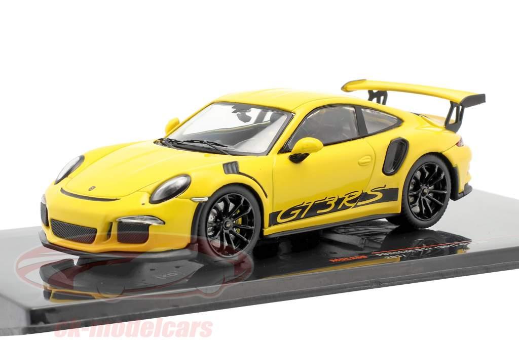 Porsche 911 (991) GT3 RS Baujahr 2017 gelb 1:43 Ixo