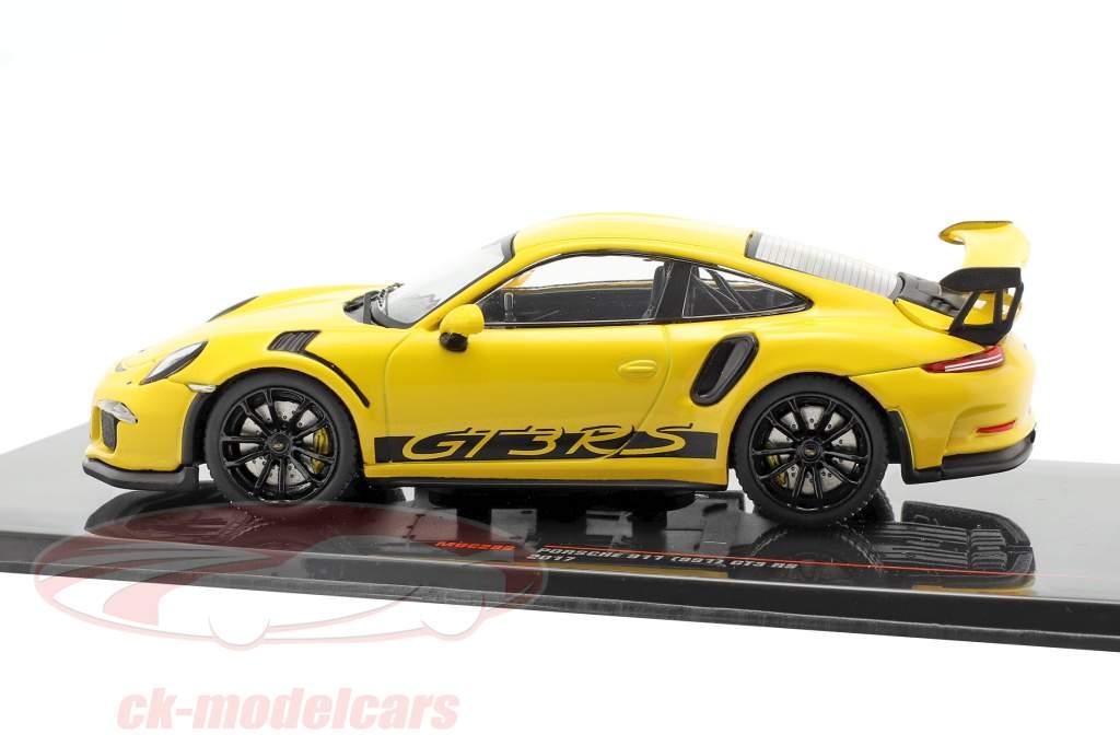 Porsche 911 (991) GT3 RS Anno di costruzione 2017 giallo 1:43 Ixo