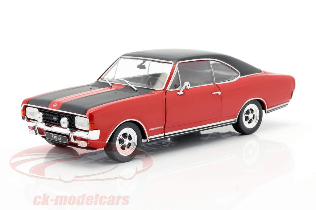 Opel Commodore A GS/E rojo / negro 1:24 WhiteBox