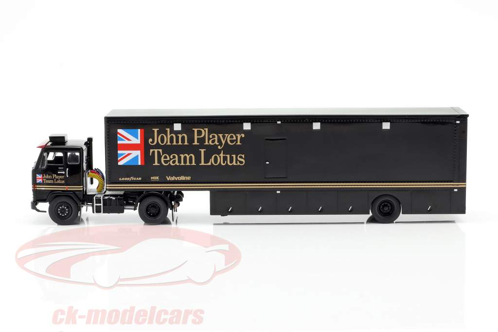 Volvo F88 Race Car Transporter John Player Team Lotus black 1:43 Ixo