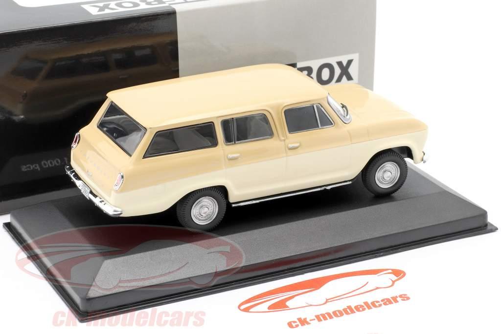 Chevrolet Veraneio Ano de construção 1965 creme / bege 1:43 WhiteBox