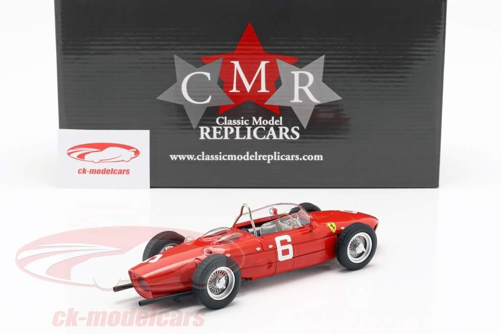 Richie Ginther Ferrari 156 Sharknose #6 3º Belga GP Fórmula 1 1961 1:18 CMR