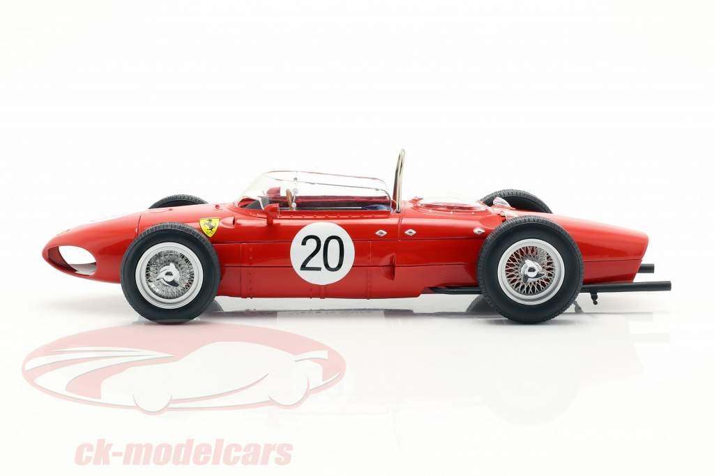 W. Graf Berghe v. Trips Ferrari 156 Sharknose #20 francese GP F1 1961 1:18 CMR
