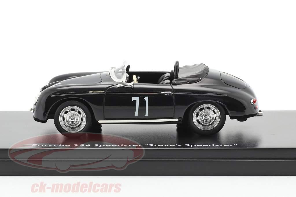 Porsche 356 Speedster #71 Steve's Speedster negro 1:43 Schuco