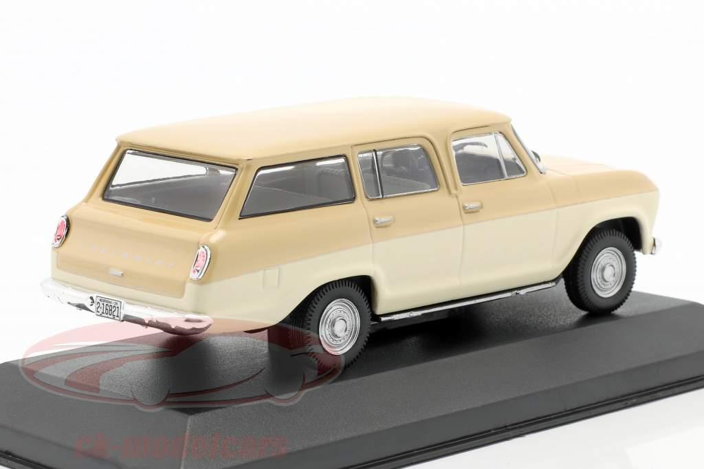 Chevrolet Veraneio Année de construction 1965 crème / beige 1:43 WhiteBox