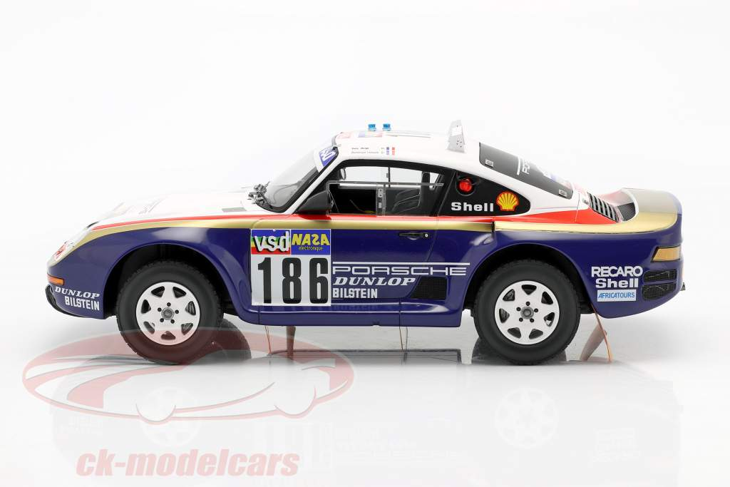 Porsche 959/50 #186 Winner Dakar Rallye 1986 Metge, Lemoyne 1:18 TrueScale