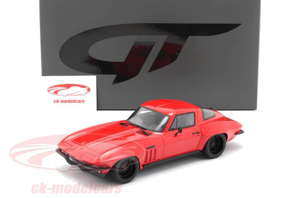 Chevrolet Corvette C2 Optima Ultima Bouwjaar 1965 rood 1:18 GT-Spirit