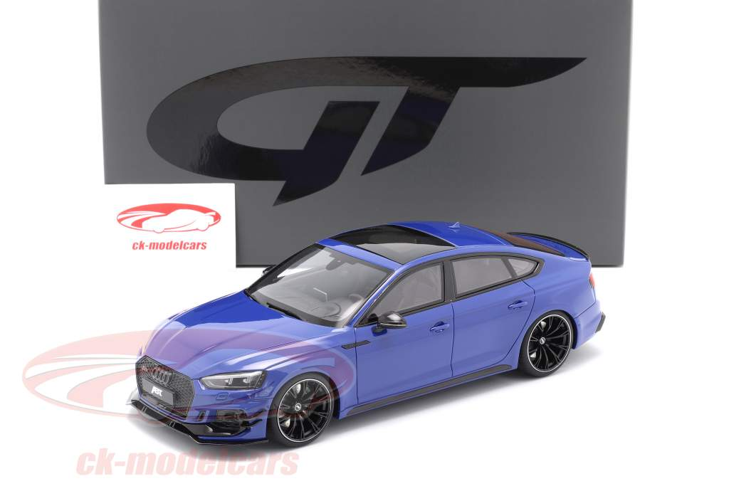 Audi ABT RS5-R Sportback Ano de construção 2019 nogaro azul 1:18 GT-Spirit