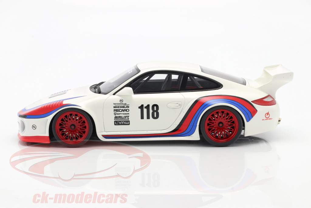 Porsche 911 (997 II) #118 OLD & NEW 935 Martini Look 2018 1:18 GT-Spirit