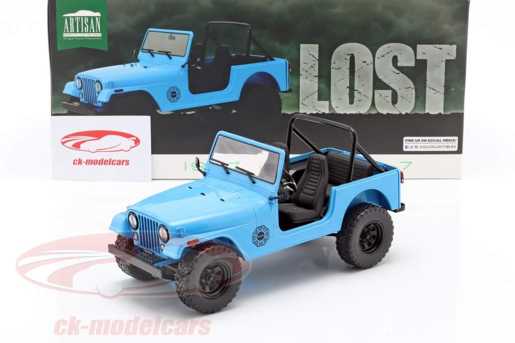 Jeep CJ-7 Dharma 1977 séries télévisées Lost (2004-2010) bleu 1:18 Greenlight