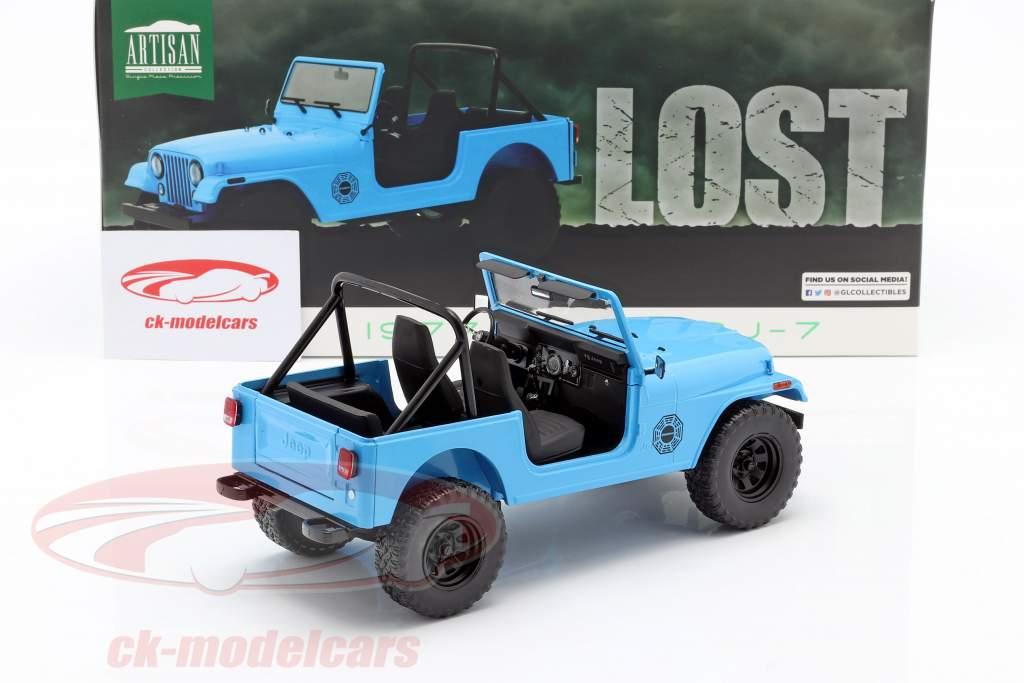 Jeep CJ-7 Dharma 1977 serie TV Lost (2004-2010) blu 1:18 Greenlight