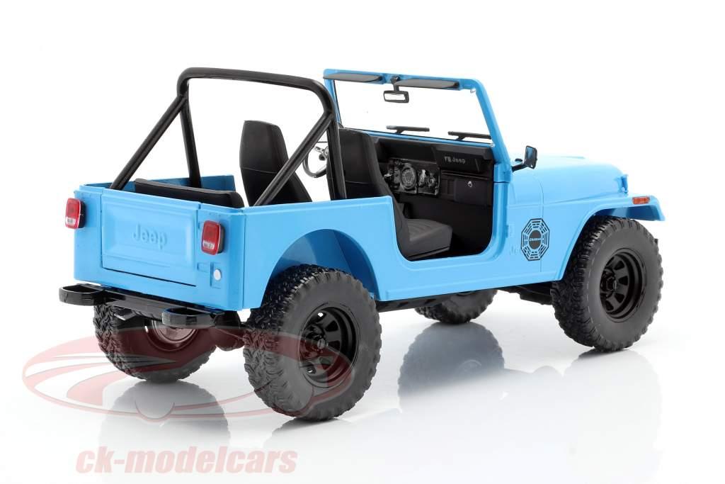 Jeep CJ-7 Dharma 1977 séries de TV Lost (2004-2010) azul 1:18 Greenlight