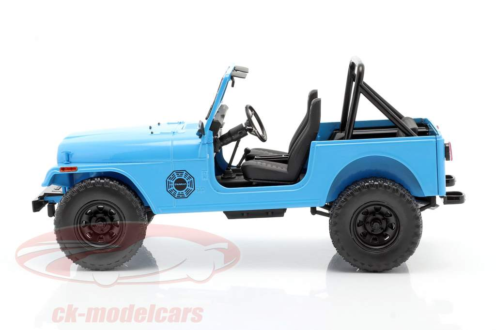 Jeep CJ-7 Dharma 1977 TV series Lost (2004-2010) blue 1:18 Greenlight