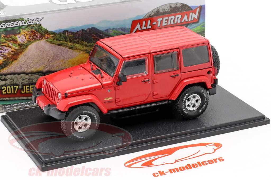 Jeep Wrangler Unlimited Sahara Año de construcción 2017 rojo 1:43 Greenlight