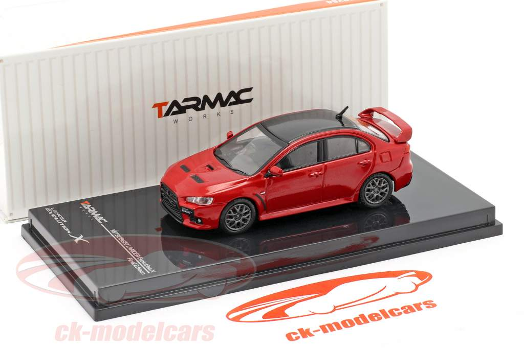 Mitsubishi Lancer Evolution X Final Edition rally rosso 1:64 Tarmac Works