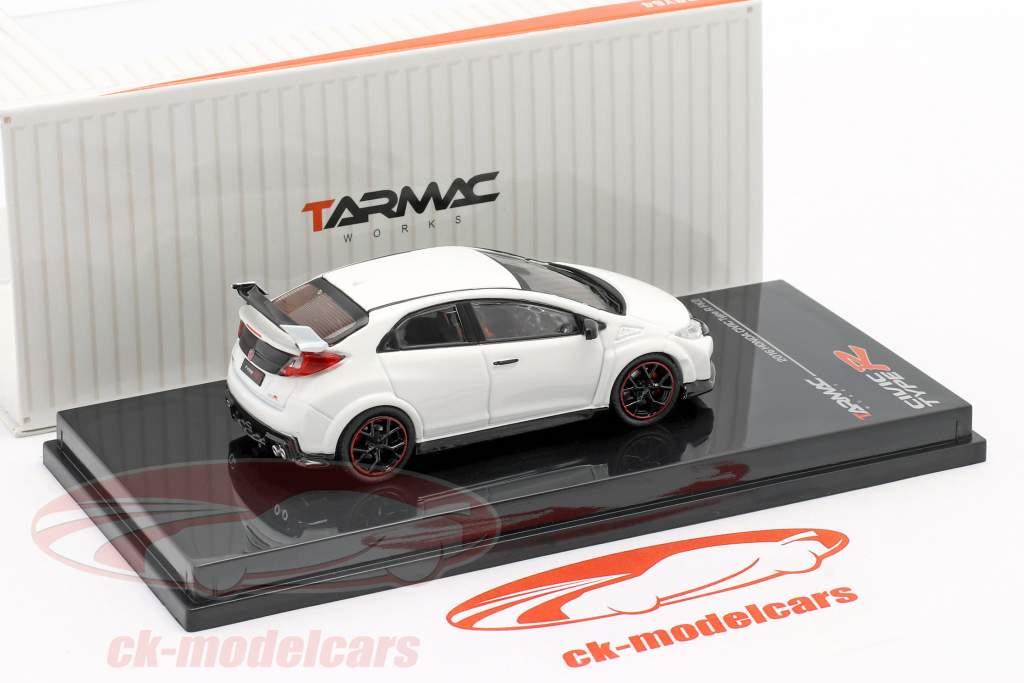 Honda Civic Type R (FK2) Año de construcción 2016 campeonato Blanco 1:64 Tarmac Works