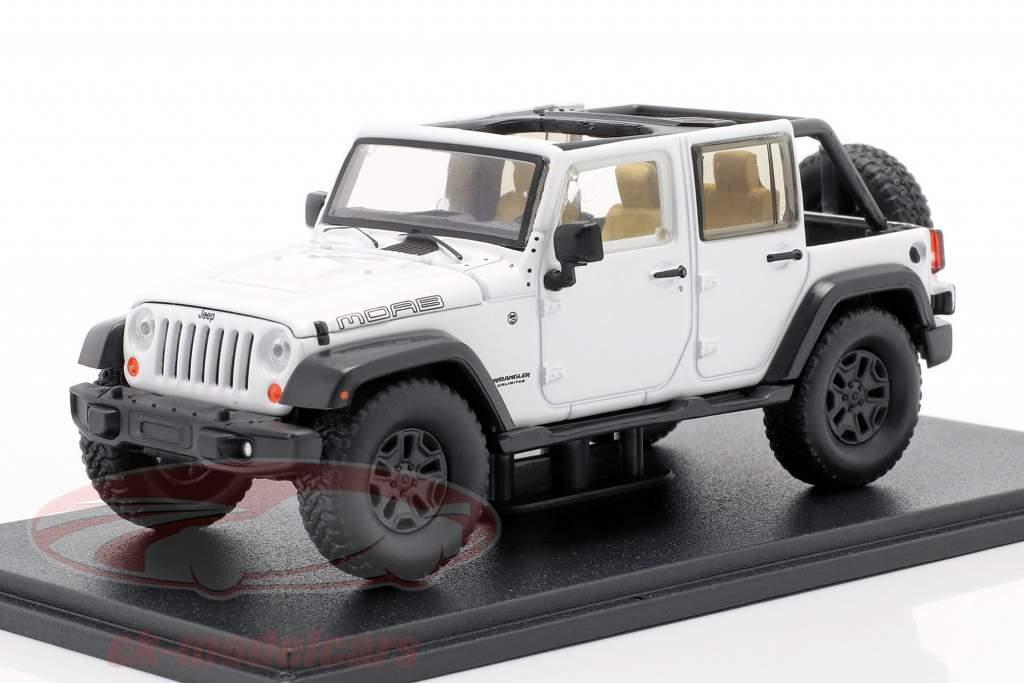 Jeep Wrangler Unlimited Moab Ano de construção 2013 Branco 1:43 Greenlight