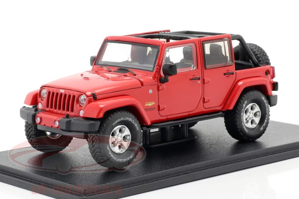 Jeep Wrangler Unlimited Sahara Anno di costruzione 2017 rosso 1:43 Greenlight