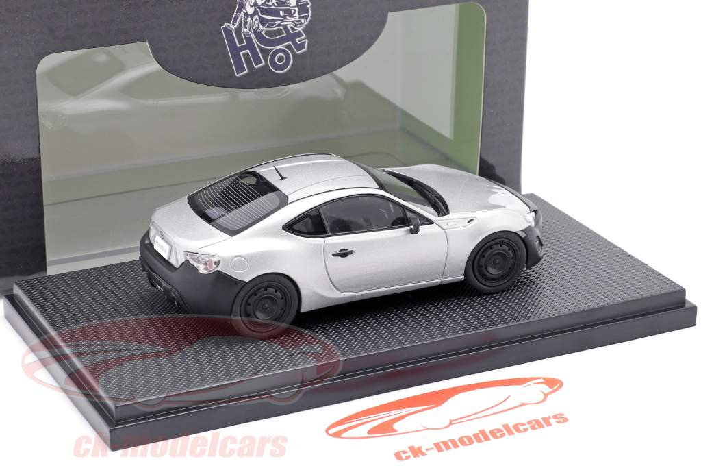 Toyota 86 RC sterling prata metálico 1:43 Ebbro